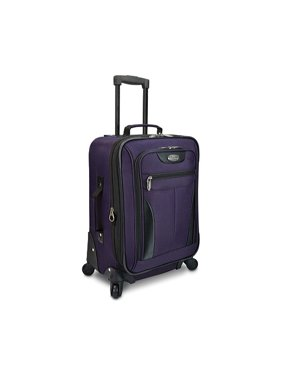 """US Traveler Charleville Softshell 20"""" Carry-on Lightweight Expandable Spinner Luggage Suitcase"""