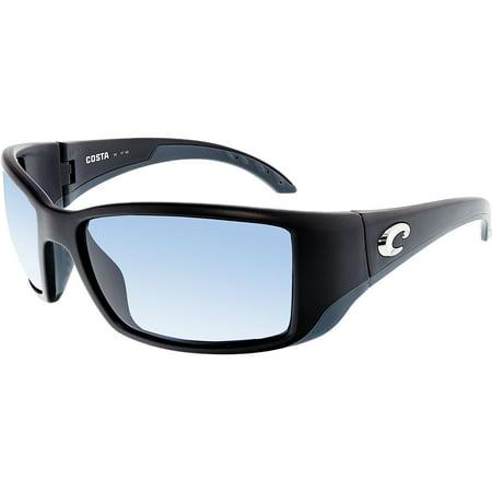 Bronze Transparent Sunglasses (Costa Del Mar Polarized Blackfin BL11OGP Black Rectangle)
