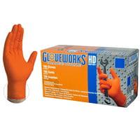 Ammex GWON48100 Gloveworks Orange Nitrile Glove, Latex Free, Disposable, Powder Free