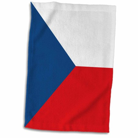 3dRose Flag of the Czech Republic. white red with blue triangle Eastern Europe country Czechoslovakia world - Towel, 15 by 22-inch ()