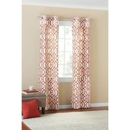 Mainstays Fretwork Window Curtain Panel (Fretwork Panels)
