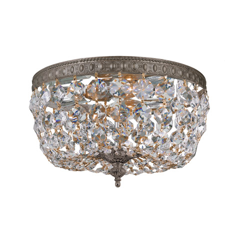 Crystorama 2 Light Clear Crystal Bronze Ceiling Mount by Crystorama
