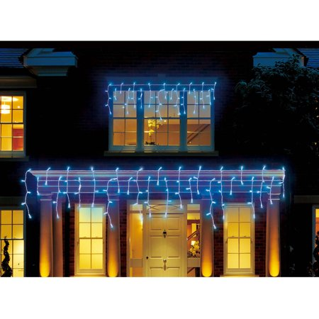 holiday time blue led micro icicle style christmas lights - Blue Christmas Lights Walmart