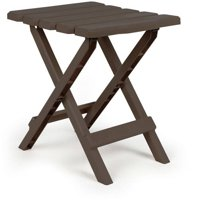 Camco 51882 Brown Regular Quick Folding Adirondack Side Table Deals
