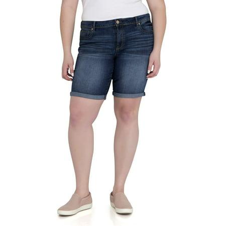 Women's Plus Bermuda Short (Plus Size Blue Shorts)