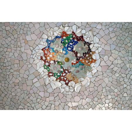 LAMINATED POSTER Tile Broken Tile Park Guell Mosaic Texture Gaudi Poster Print 24 x 36