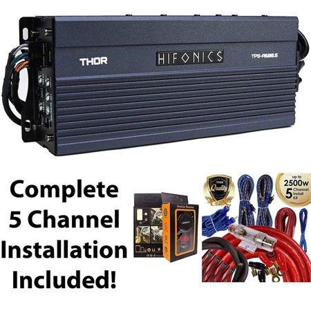 Hifonics TPS-A600.5 600W 5-Channel Compact Power Amplifier + 5 Channel Amp Kit