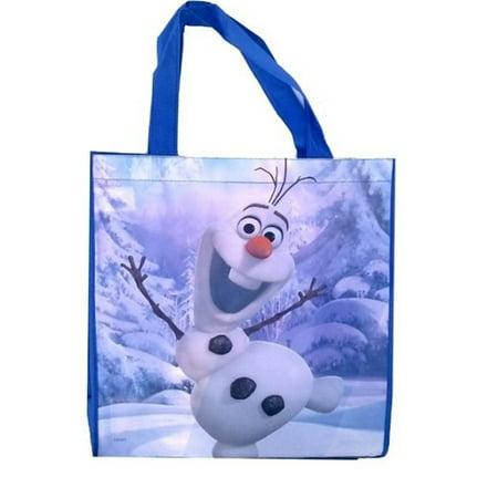 Disney's Frozen Olaf Dark Blue Shopping Tote Bag, 19 X 13 X 6.5 inches (Olaf Plates)
