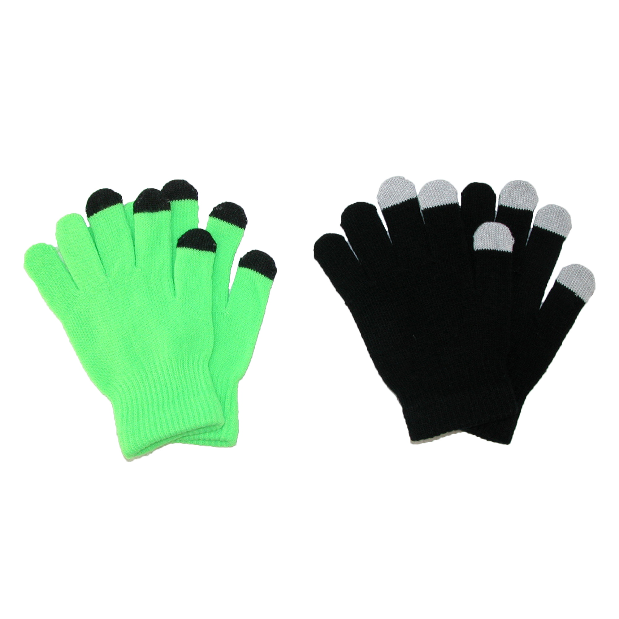 CTM®  Grip Knit Texting Winter Gloves (Pack of 2)