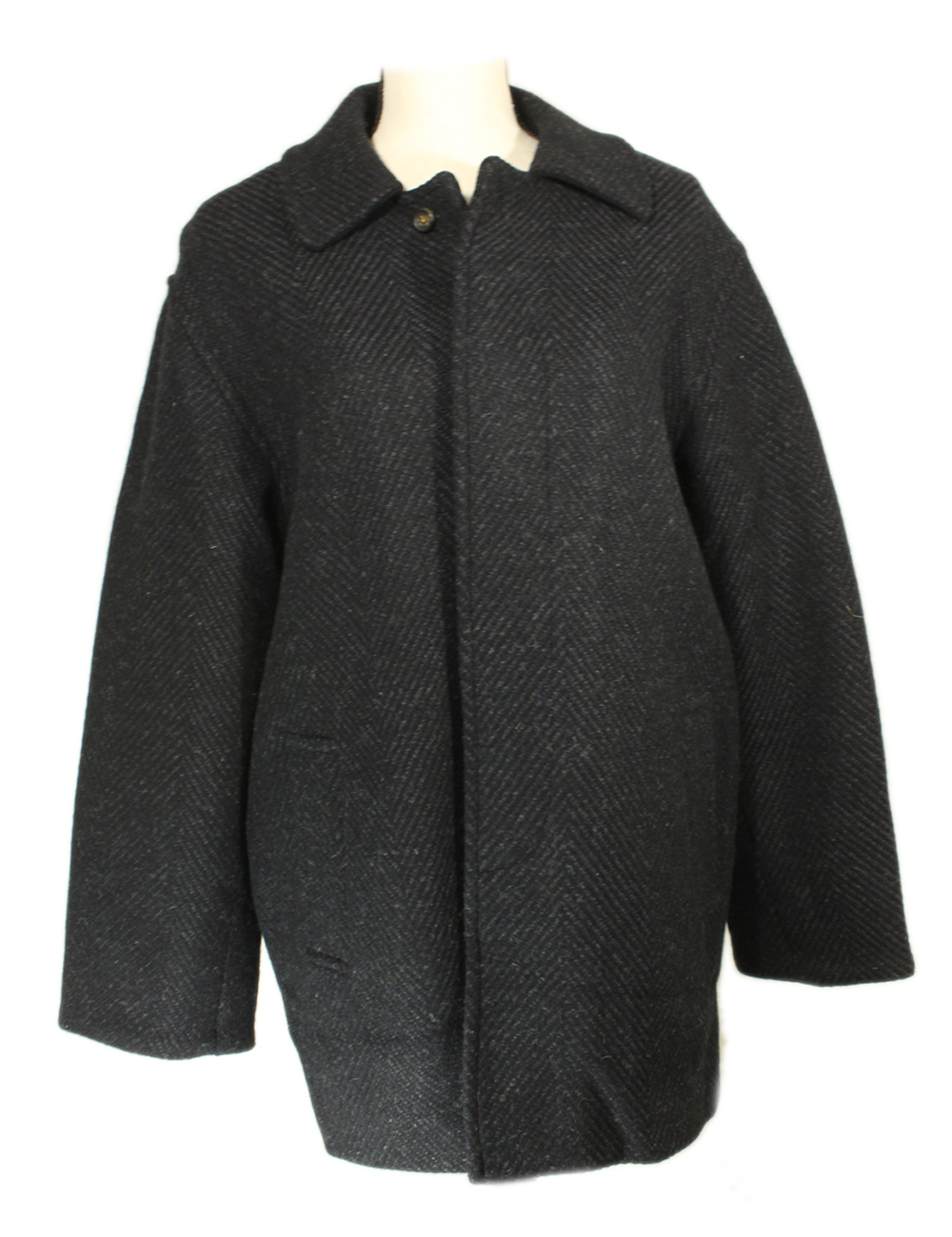 New Mens Wool Coat Tweed Handwoven Made in Ireland Studio Donegal by Studio Donegal