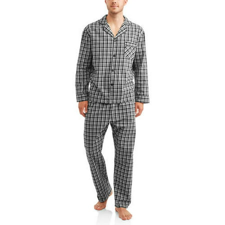 Hanes Big & Tall Men's Woven Pajama Set - Onesies For Tall Men