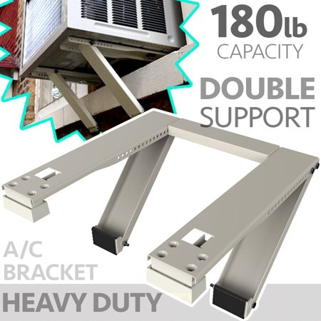 Universal Window Air Conditioner Bracket - Heavy-Duty Window AC Support - Support Air Conditioner Up to 180 lbs. - For 12000 BTU AC to 24000 BTU AC Units (HEAVY (A/c Bracket)
