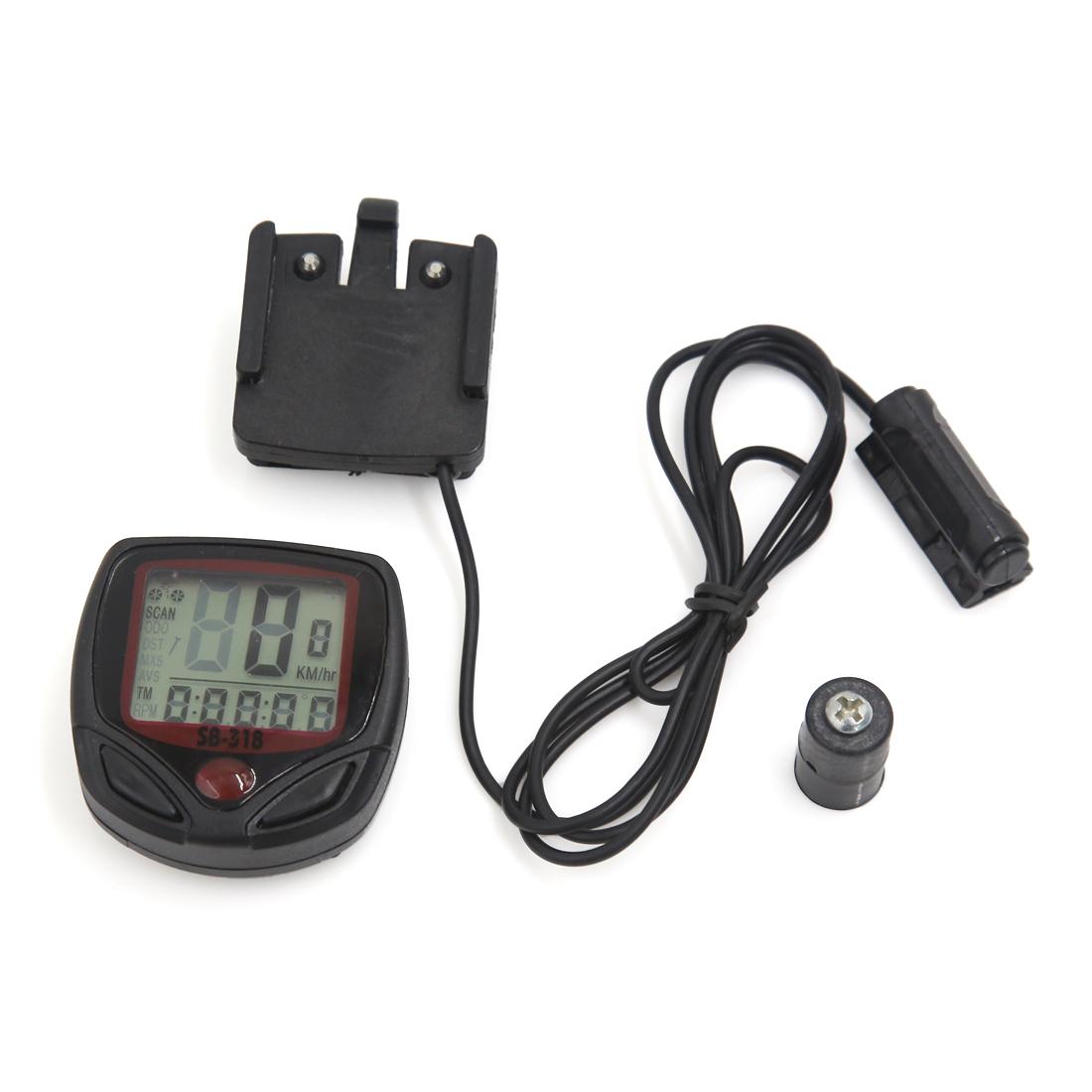 15 Functions Waterproof LCD Bicycle Odometer Bike Speedometer Stopwatch