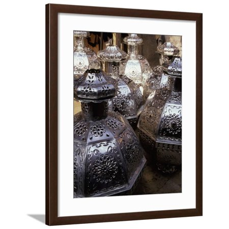 Punched Tin Lanterns, San Miguel de Allende, Mexico Framed Print Wall Art By Inger Hogstrom