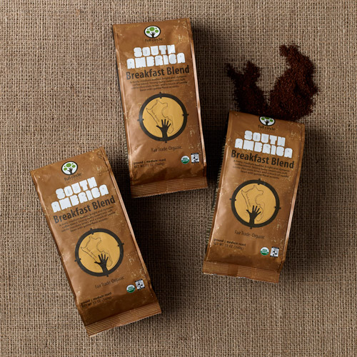 "Full Circle Exchange Fair Trade South American ""Breakfast Blend"" Medium Roast Ground Organic Coffee, 12oz (Pack of 3)"