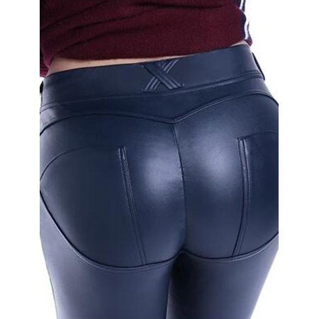 306772d1a0 LyRay - Women's Sexy Skinny Push Up Stretch Faux Leather Pants - Walmart.com