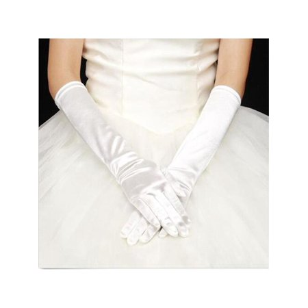 "22"" Long Satin Bridal Glove Wedding Party Prom Fancy Dress Elbow Opera Gloves For Women"