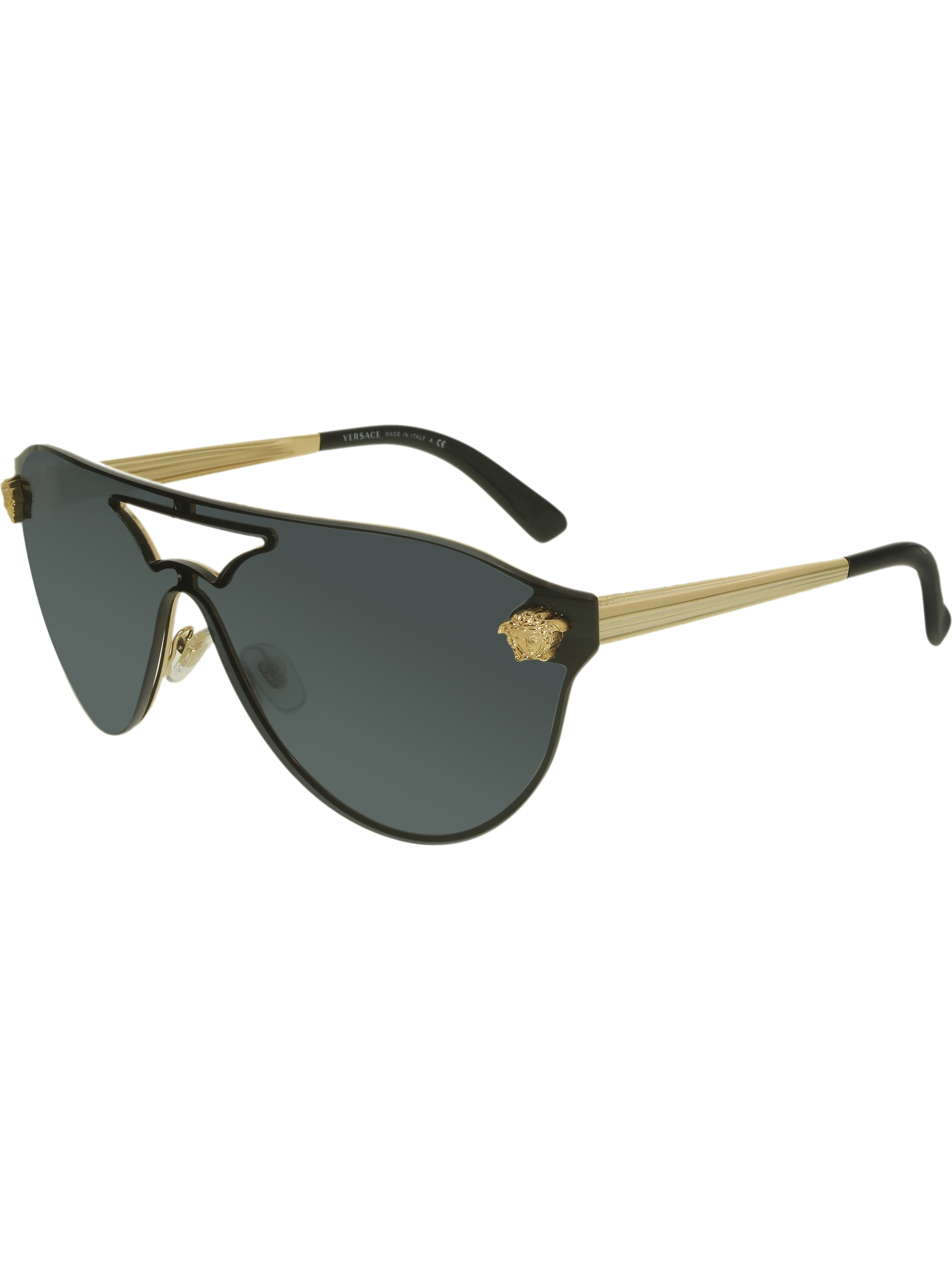 9abc7a52ec Versace - Women s VE2161-100287-42 Black Shield Sunglasses - Walmart.com