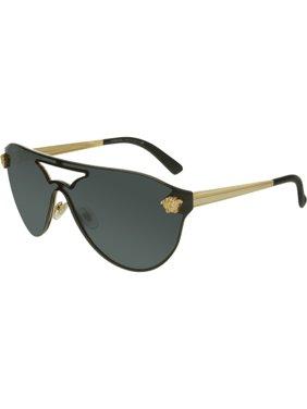 Women's VE2161-100287-42 Black Shield Sunglasses
