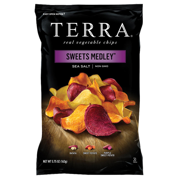 Terra Sweet Medley Sea Salt Real Vegetable Chips 6 oz Bag...