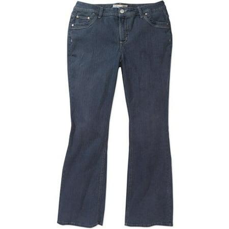 63481c4334e90 Just My Size - Women s Plus-Size Modern Bootcut Tummy Control Jeans -  Walmart.com