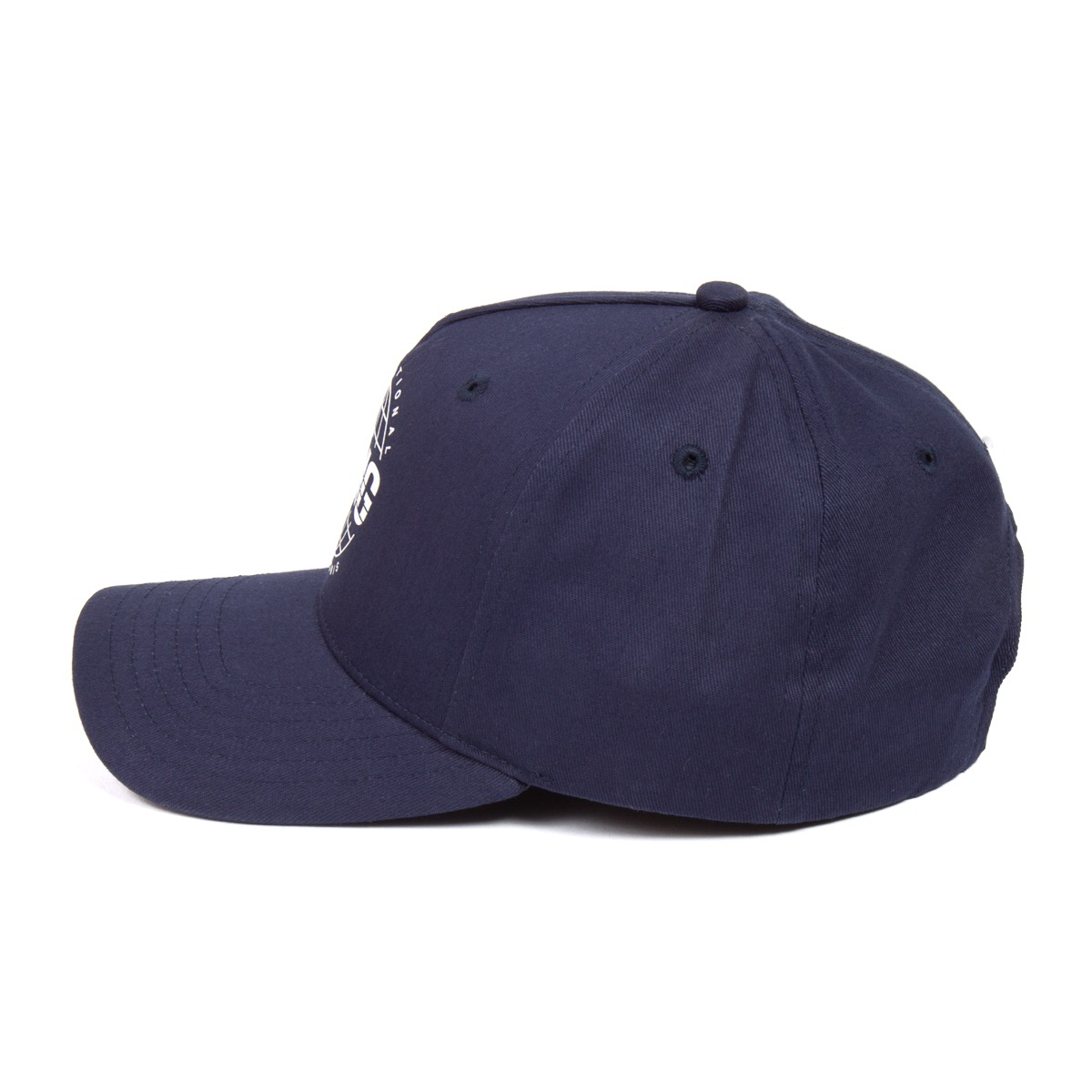 King Apparel Bethnal Curved Peak Blue Ink Snapback Hat - image 5 de 6