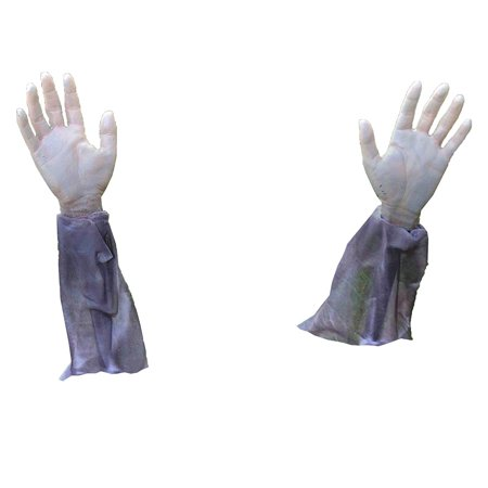 Forum Novelties Zombie Arm Lawn Stakes 2-Piece Halloween Graveyard Props - Halloween Projector Zombies