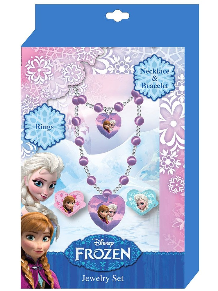 Frozen Jewelry Set (4 Pc. Set) Party Supplies by H.e.r Accessories