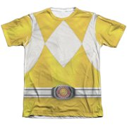 Mighty Morphin Power Rangers Yellow Ranger (Front Back Print) Mens Shirt