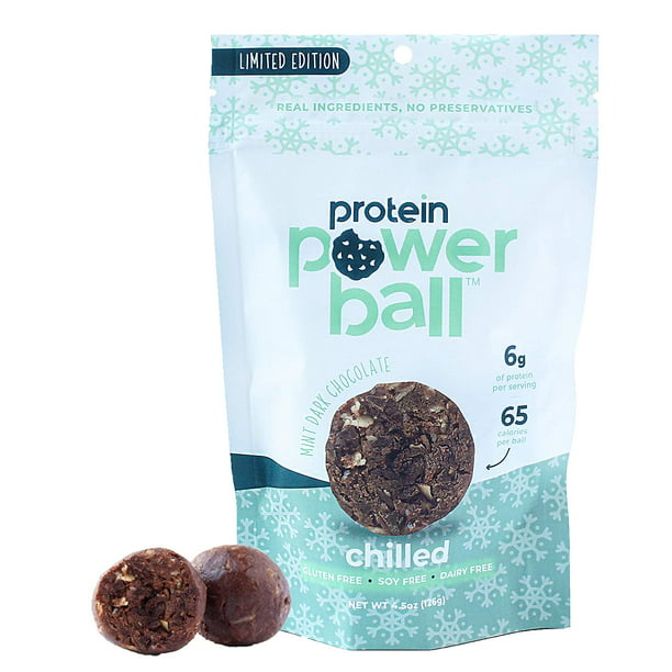 Protein Power Ball Healthy Snacks Gluten Free Dairy Free Soy Free Vegan Snack Energy Bites Mint Dark Chocolate 4 Pack Walmart Com Walmart Com