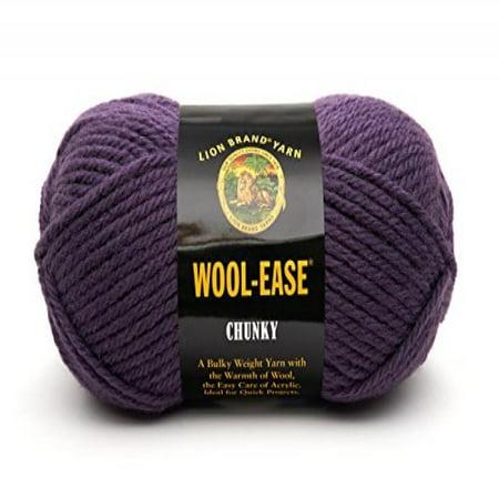 Lion Brand Yarn 630-144K Wool-Ease Chunky Yarn, Eggplant Lion Brand Chunky Yarn