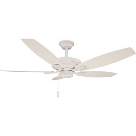 Hampton Bay 3572982 North Pond 52 In. Indoor/Outdoor Matte White Ceiling Fan