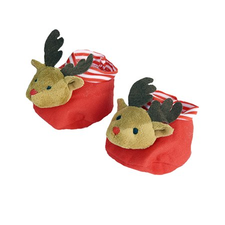 Reindeer Slippers Teddy Bear Clothes Fits Most 14