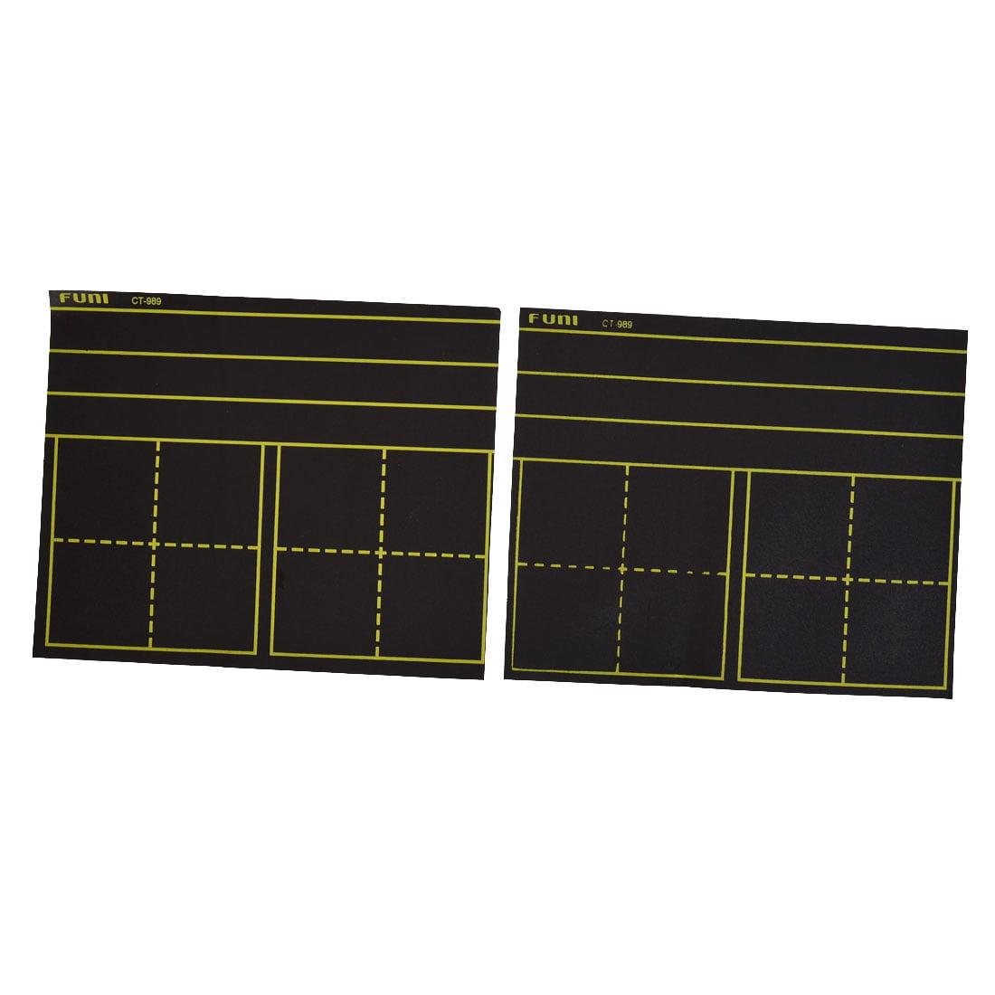 "Unique Bargains 2 Pcs 11"" x 9"" School Parallel Matts Print Adhesive Blackboard Magnets"