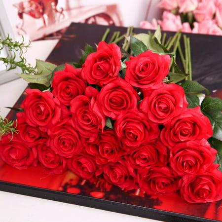 ENJOY 1 Pcs PE Foam Fake Artificial French Rose Bouquet Wedding Living Room Table Home Garden Decor Flowers