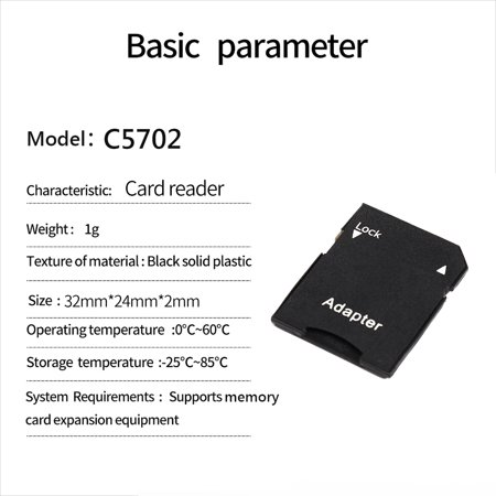TF Card to SD Memory Card Adapter Converter Card Reader for Adapter TF Card Cover - image 3 of 4