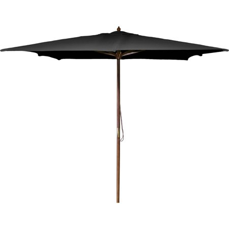 8.5' Wood Square Market Umbrella Diameter Wooden Market Umbrella