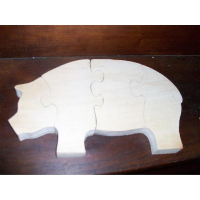 Fine Crafts 217ANI Pig wooden stand up puzzle