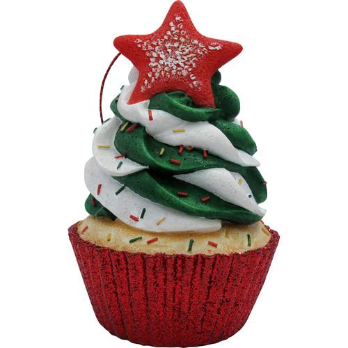 Sandicast Star Top Cupcake Christmas Tree Ornament