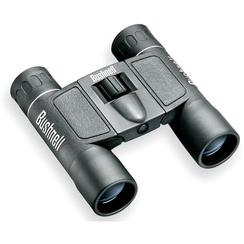 Bushnell Powerview 12x25 Compact Folding Roof Prism Binocular (Black) by Bushnell