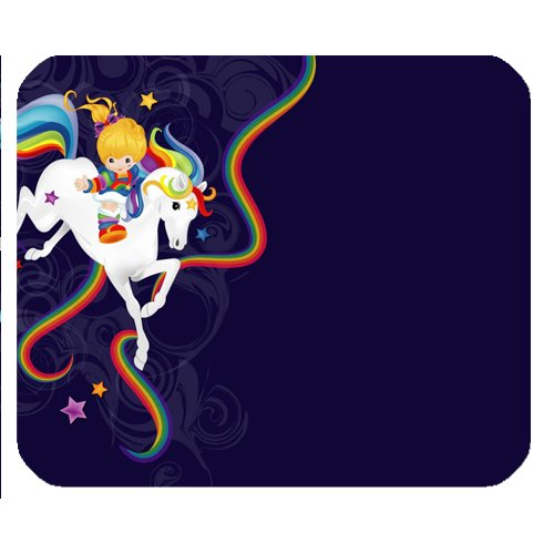 POPCreation Rainbow Brite And Starlite Mouse pads Gaming Mouse Pad 9.84x7.87 inches