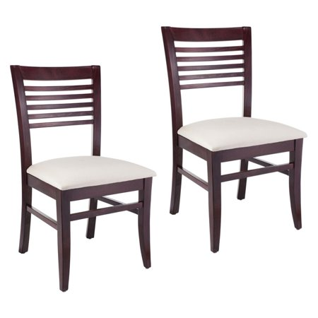 Beechwood Mountain Venetion Dining Side Chair in Mahogany (Set of 2)