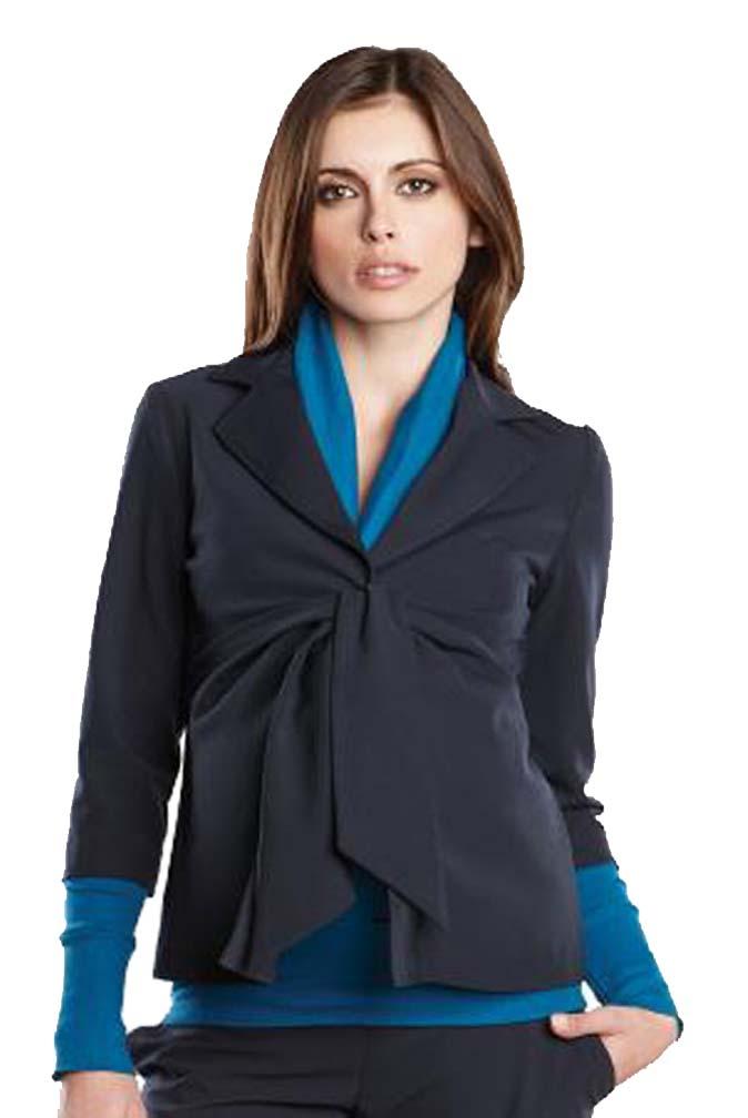 Maternal America Audrey 3/4 Sleeve Front Tie Blazer
