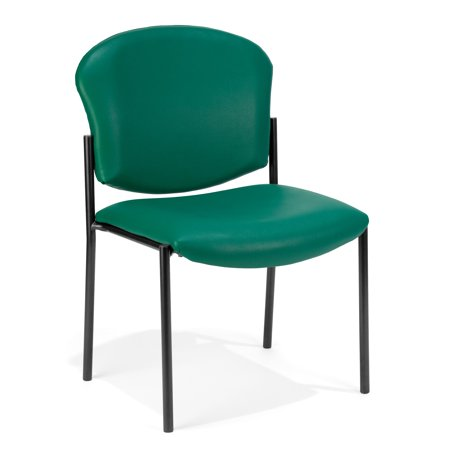 OFM Manor Series Armless Guest and Reception Chair, Anti-Microbial/Anti-Bacterial Vinyl, in Teal (408-VAM-602)