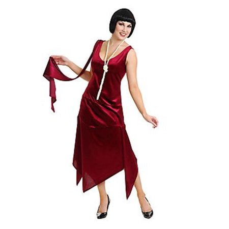 Adult Wine Sandy Speak Easy Flapper Costume Charades 52331 - Cheap Easy Adult Costumes