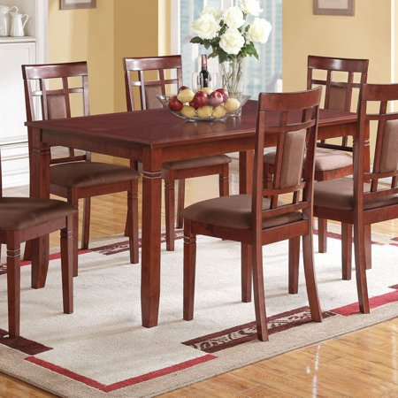 ACME Sonata Dining Table, Cherry - TABLE ONLY (Leaf Cherry Finish Dining Table)