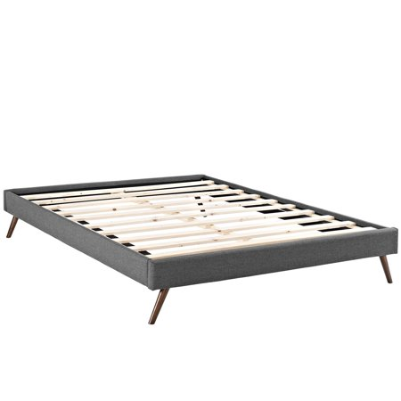 Modway Helen Upholstered Bed Frame with Round Splayed Legs, Multiple Sizes and (Bowsers Round Bed)