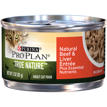 Ultra Pro Top Dog (Purina Pro Plan Natural Gravy Wet Cat Food, TRUE NATURE Natural Beef & Liver Entree - (24) 3 oz. Pull-Top Cans)