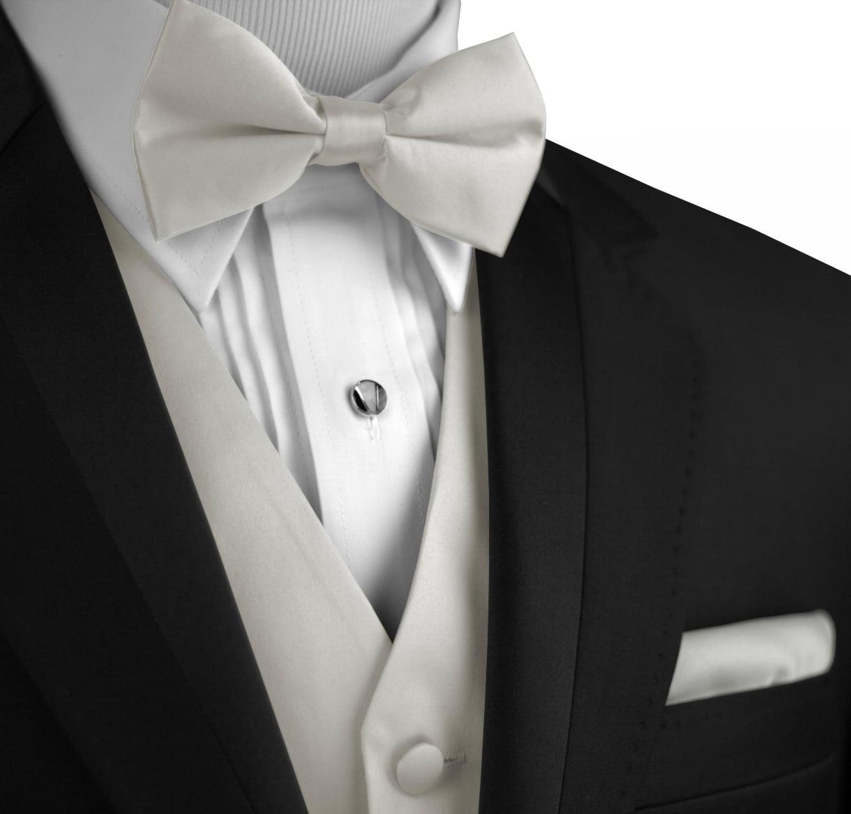 Tie /& Pocket Square Set in Gold Brand Q Mens Formal Prom Wedding Tuxedo Vest