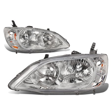 - For 04-05 Honda Civic Headlight Chrome Housing Amber Corner Headlamp EM/ES 2/4 Door Left+Right